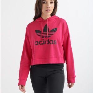 Adidas Originals Leoflage Trefoil Crop Sweatshirt
